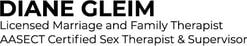 DIANE GLEIM Marriage and Family Therapist - Sex and Relationship Therapy